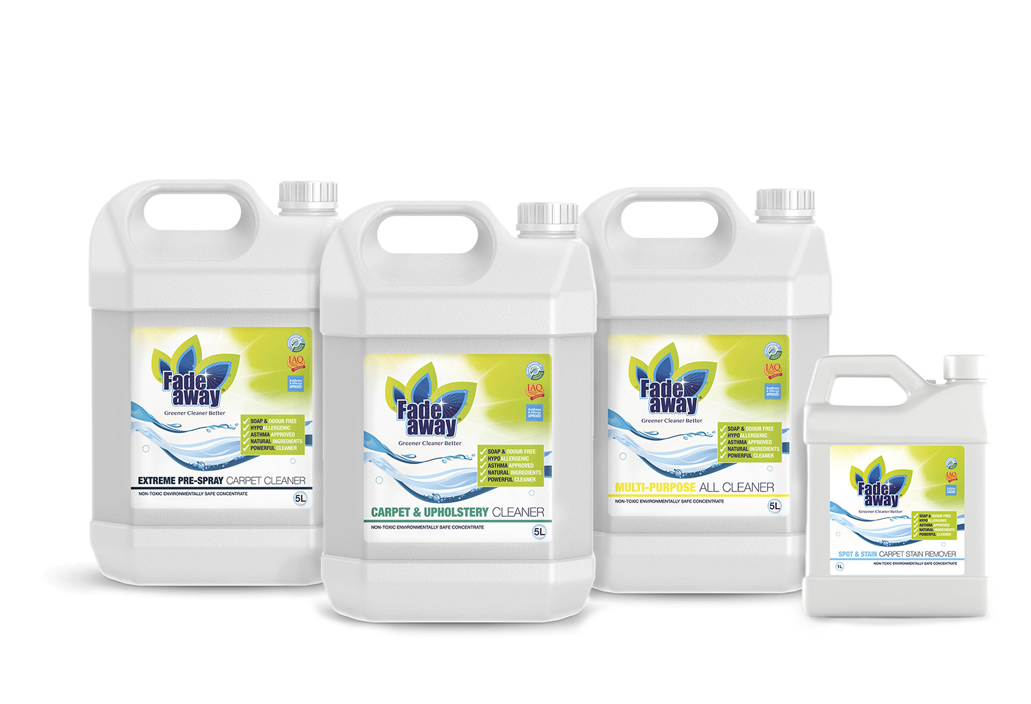 FadeAway Green Range | Non-Toxic Cleaning Agents