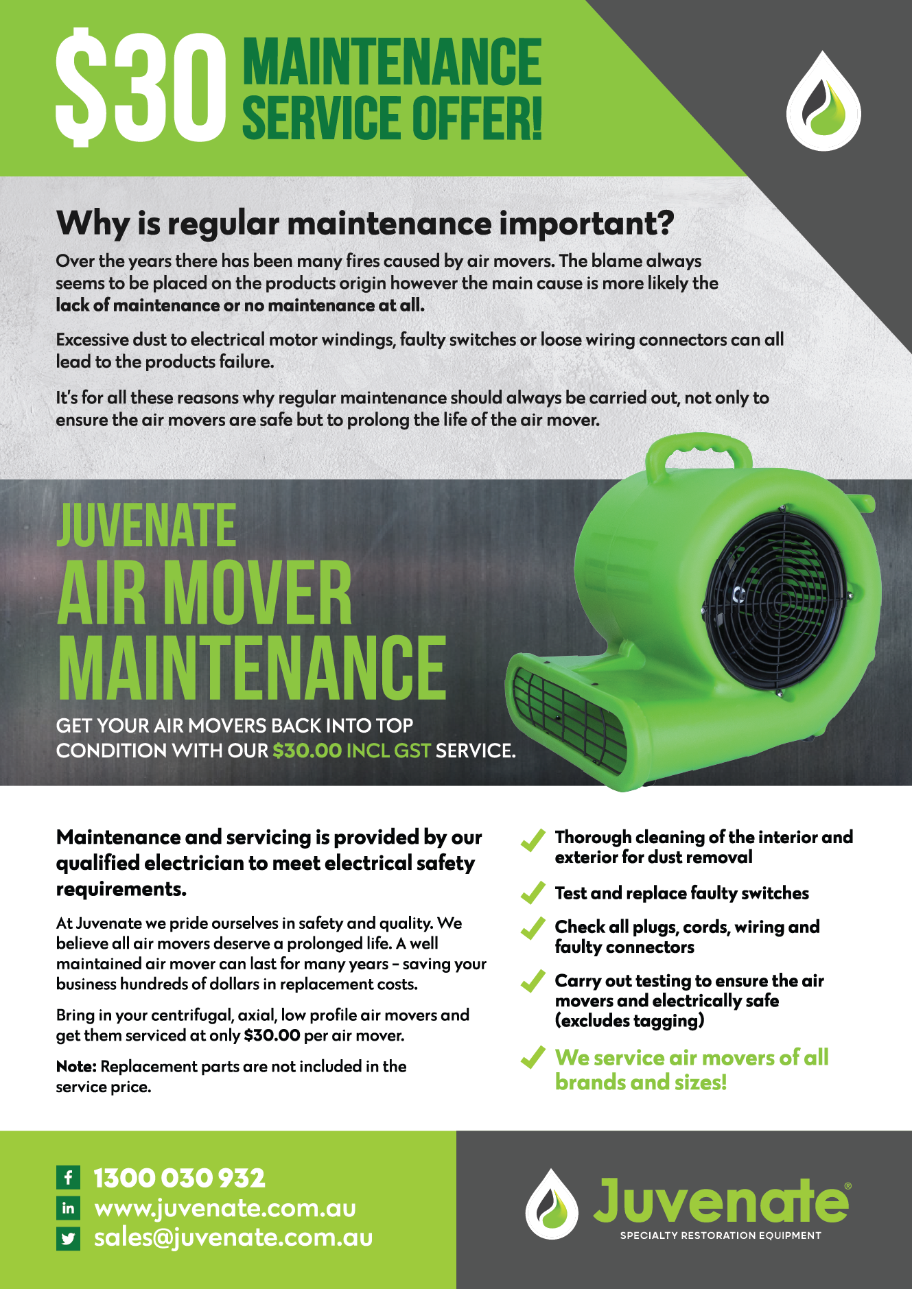 air movers maintenance